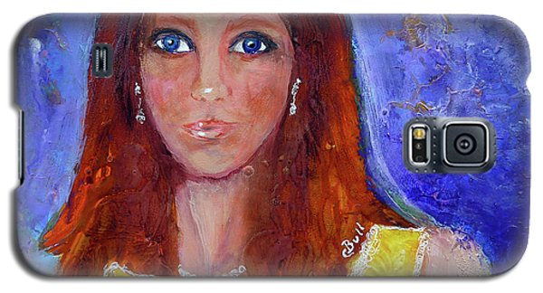 Galaxy S5 Case featuring the painting Girl In Yellow Dress by Claire Bull