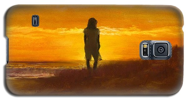 Galaxy S5 Case featuring the painting Girl On The Dunes by Jack Skinner