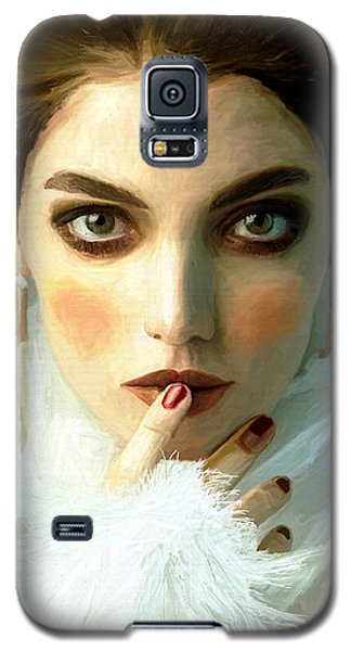 Galaxy S5 Case featuring the painting Girl Ready To Party by James Shepherd
