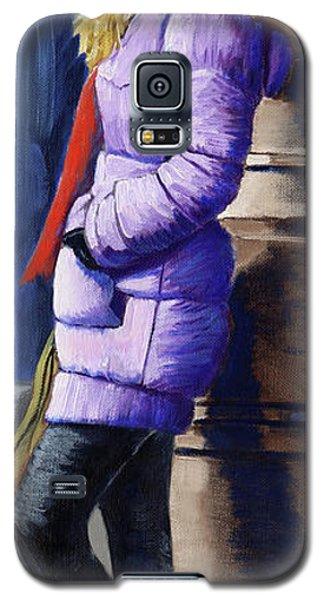 Girl Waiting Galaxy S5 Case