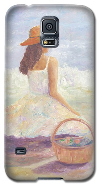 Girl With A Basket Galaxy S5 Case