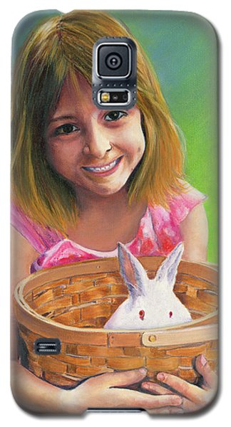 Girl With A Bunny Galaxy S5 Case by Jeanette French
