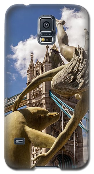 Girl With A Dolphin Fountain Galaxy S5 Case