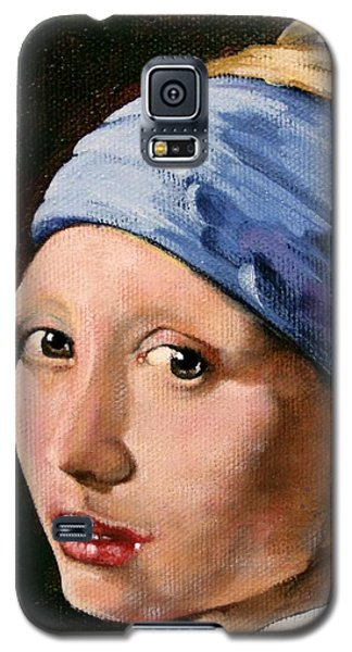 Girl With A Pearl Earring A Reproduction Of Vermeer Galaxy S5 Case