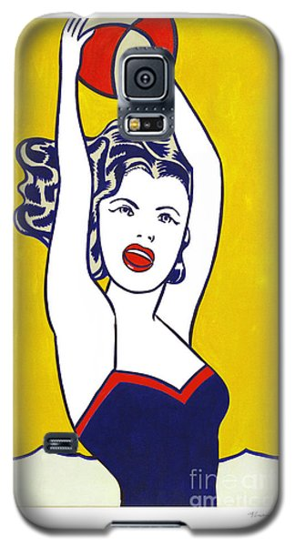 Girl With Ball - Pop Art - Roy Lichtenstein Galaxy S5 Case