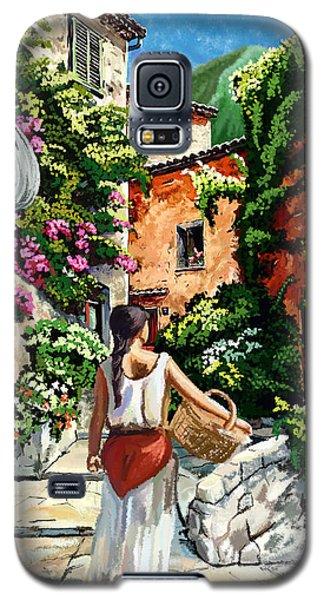 Girl With Basket On A Greek Island Galaxy S5 Case