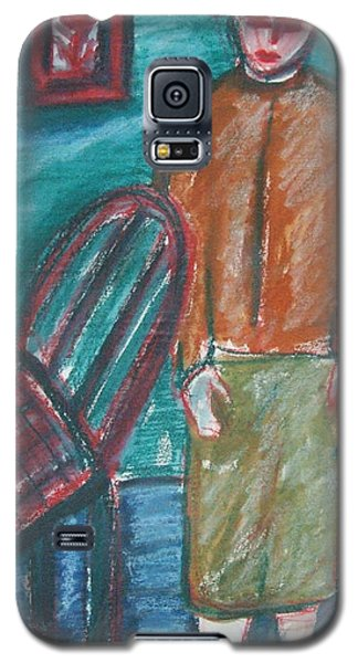 Girl With Chair Galaxy S5 Case