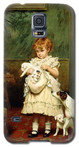 The White House Galaxy S5 Case - Girl With Dogs by Charles Burton Barber