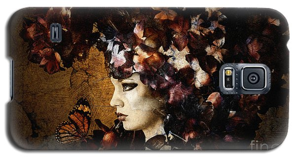 Girl With Flower Hat Galaxy S5 Case