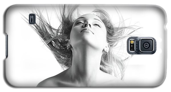 Girl With Flying Blond Hair Galaxy S5 Case by Olena Zaskochenko