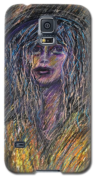 Girl With Hat Galaxy S5 Case