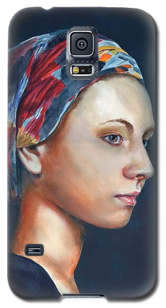 Girl With Headscarf Galaxy S5 Case
