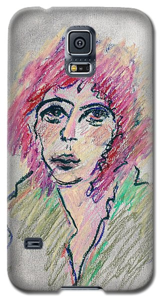 Girl With Pink Hair  Galaxy S5 Case