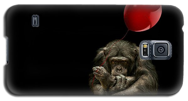 Girl With Red Balloon Galaxy S5 Case by Paul Neville
