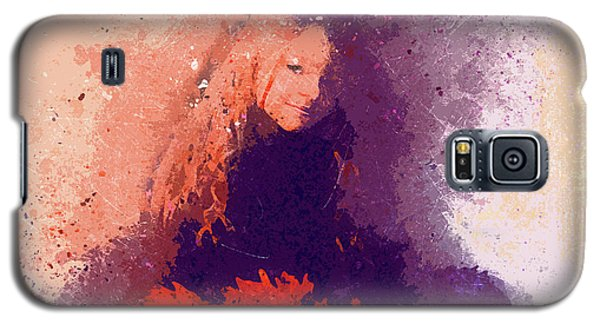 Girl With Red Flowers 2 Galaxy S5 Case