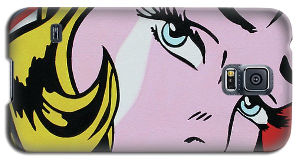 Girl With Ribbon Galaxy S5 Case