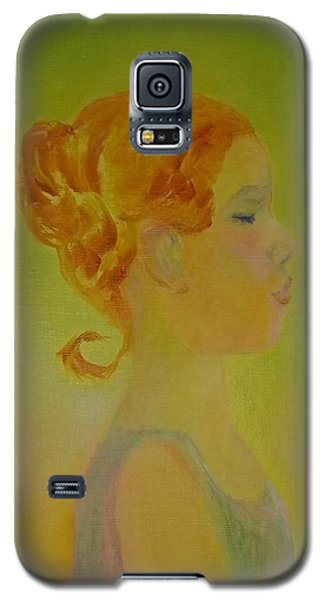 The Girl With The Curl Galaxy S5 Case