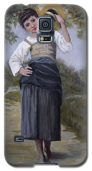Galaxy S5 Case featuring the painting Girl With Water Jug by Sandra Nardone