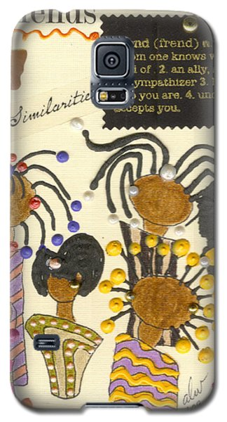 Galaxy S5 Case featuring the mixed media Girlfriends  by Angela L Walker