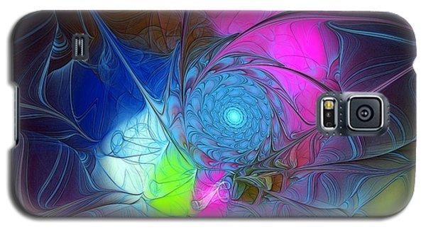 Galaxy S5 Case featuring the digital art Girls Love Pink by Karin Kuhlmann