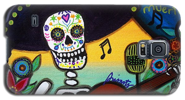 Gitarero Day Of The Dead Galaxy S5 Case by Pristine Cartera Turkus
