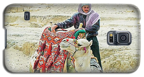 Galaxy S5 Case featuring the photograph Giza Camel Taxi by Joseph Hendrix