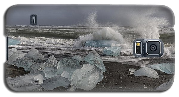 Galaxy S5 Case featuring the tapestry - textile Glacial Lagoon Iceland 2 by Kathy Adams Clark