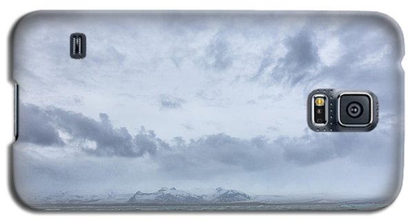 Galaxy S5 Case featuring the tapestry - textile Glacial Lagoon Iceland by Kathy Adams Clark