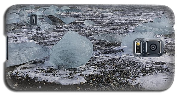 Galaxy S5 Case featuring the tapestry - textile Glacier Ice 3 by Kathy Adams Clark