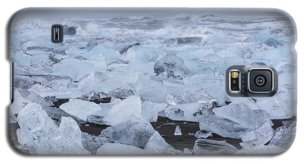 Galaxy S5 Case featuring the tapestry - textile Glacier Ice by Kathy Adams Clark
