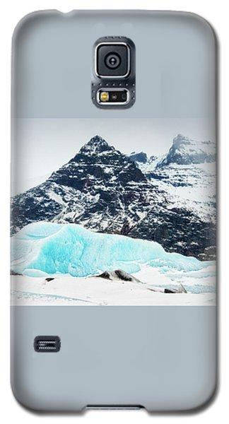 Galaxy S5 Case featuring the photograph Glacier Landscape Iceland Blue Black White by Matthias Hauser