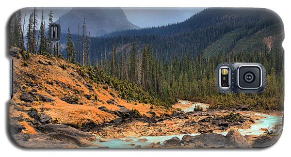 Galaxy S5 Case featuring the photograph Glacier Waters Flowing Through Yoho National Park by Adam Jewell