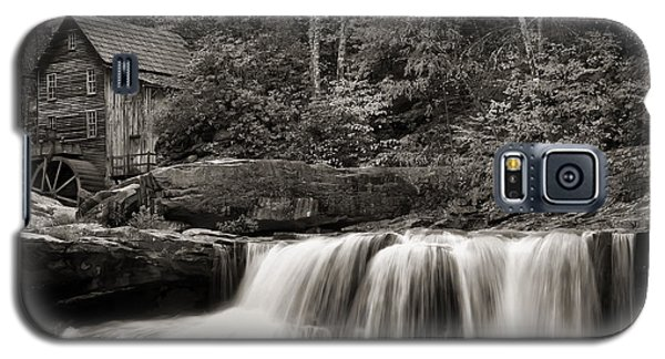 Glade Creek Grist Mill Monochrome Galaxy S5 Case by Chris Flees