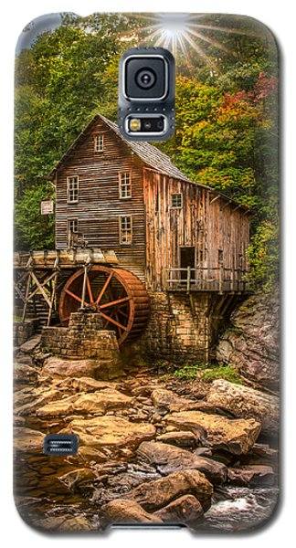 Galaxy S5 Case featuring the photograph Glade Creek Mill Fall by Rebecca Hiatt