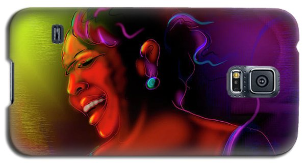 Galaxy S5 Case featuring the painting Gladys Knight by DC Langer