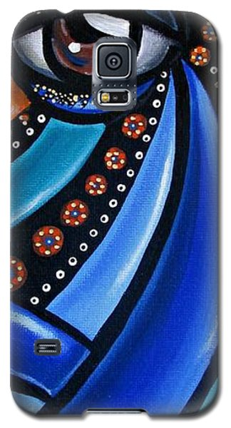 Abstract Eye Art Acrylic Eye Painting Surreal Colorful Chromatic Artwork Galaxy S5 Case