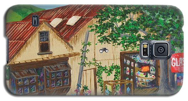 Galaxy S5 Case featuring the painting Glass Blower Shop Harmony California by Katherine Young-Beck