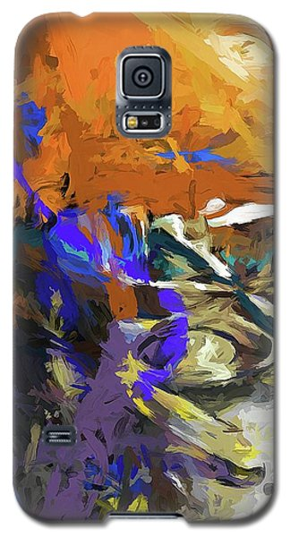 Glass Bowl Purple Splatter Galaxy S5 Case