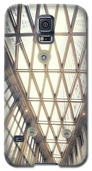 glass ceiling in hall of  new State office  Galaxy S5 Case