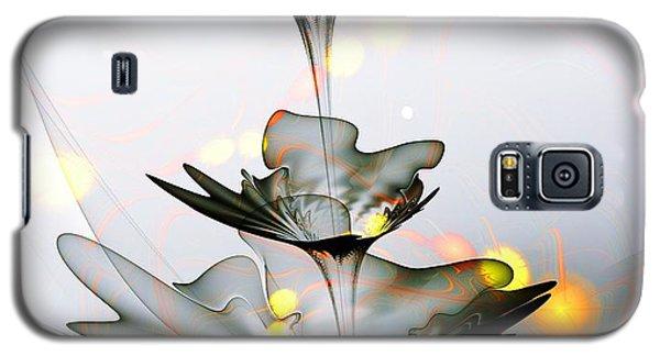 Galaxy S5 Case featuring the mixed media Glass Flower by Anastasiya Malakhova