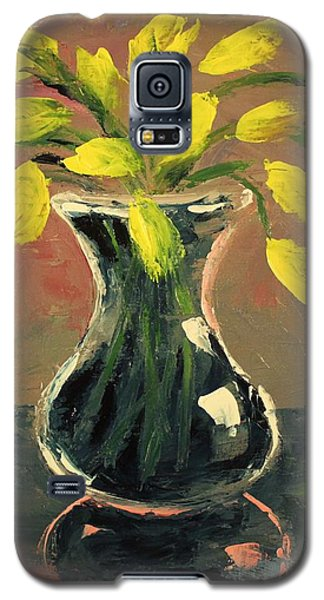 Glass Vase And Yellow Flowers Galaxy S5 Case