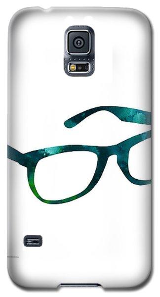Glasses Silhouette  Watercolor Art Print Poster Galaxy S5 Case