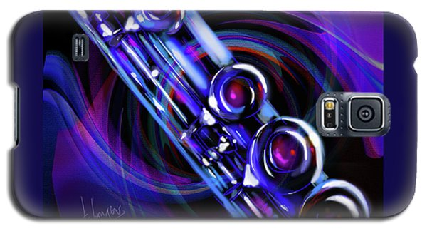 Galaxy S5 Case featuring the painting Glassical Flute by DC Langer