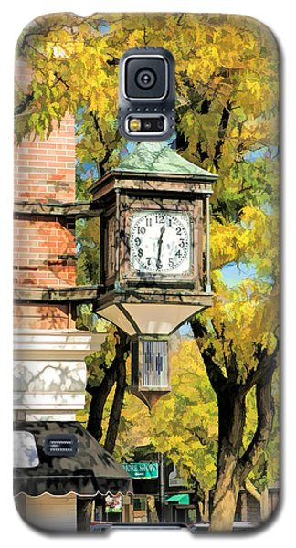 Galaxy S5 Case featuring the painting Glen Ellyn Corner Clock by Christopher Arndt