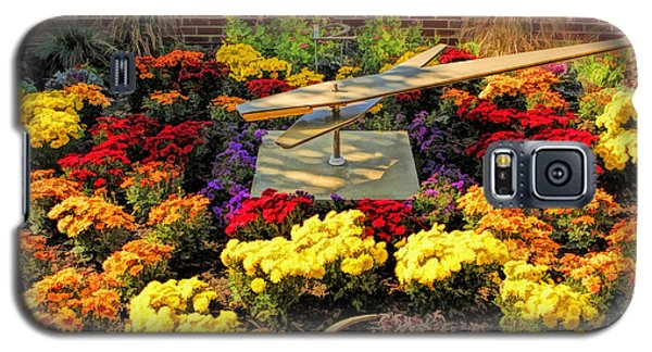 Galaxy S5 Case featuring the painting Glen Ellyn Millennium Flower Clock by Christopher Arndt