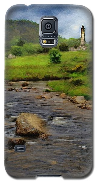 Galaxy S5 Case featuring the painting Glendalough In The Distance by Jeff Kolker
