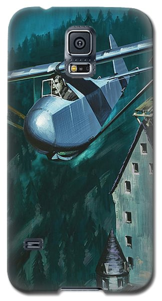 Glider Escape From Colditz Castle Galaxy S5 Case by Wilf Hardy