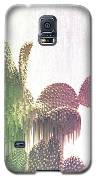 Glitch Cactus Galaxy S5 Case
