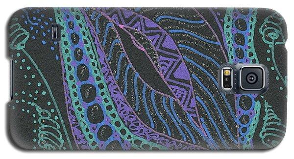 Glitter Flower Galaxy S5 Case by Jan Steinle