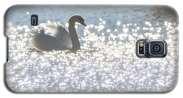 Glitz And Glamory Swan Galaxy S5 Case